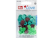 "Кнопки Prym Love 393005 ""Color Snaps"" круглые d12,4 (30шт.)"